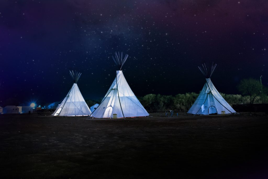 Try out eco-friendly accommodation like yurts or teepees